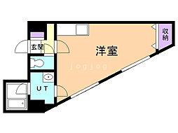 第6松屋ビル 7階ワンルームの間取り