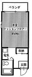 ドミトーリィ長崎[2階]の間取り