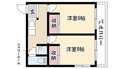 愛知県名古屋市瑞穂区塩入町の賃貸マンションの間取り