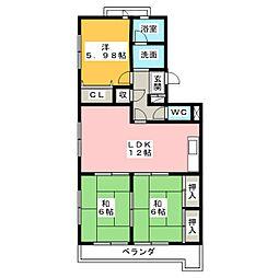 カーサ28[3階]の間取り