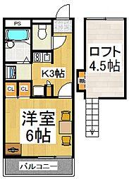 ブレス新倉[2階]の間取り