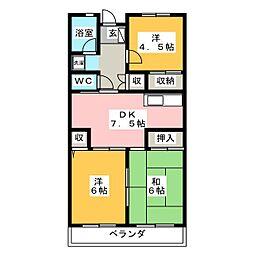 近畿マンション[2階]の間取り
