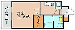 レジデンス箱崎[11階]の間取り