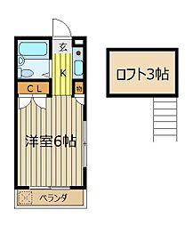 K-4[3階]の間取り
