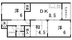 夢野ハイタウン[9階]の間取り