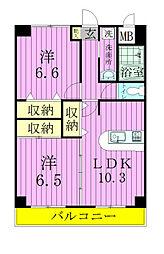 SAKURA AVENUE[5階]の間取り