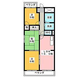 シャトーSI[4階]の間取り
