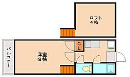 パンシオンヴィラカトレア[1階]の間取り