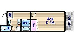 CITY SPIRE上本町[2階]の間取り