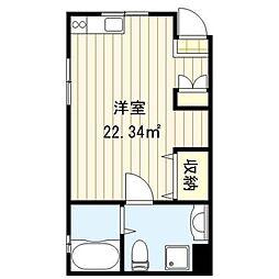 東京都荒川区東日暮里6丁目の賃貸アパートの間取り
