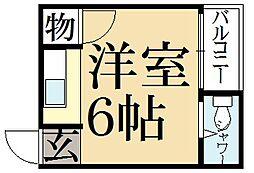 ハイツ松ヶ崎[3階]の間取り