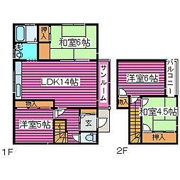 [一戸建] 北海道札幌市北区篠路二条2丁目 の賃貸【/】の間取り