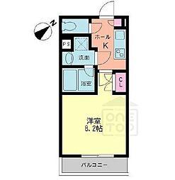 愛知県名古屋市千種区堀割町1丁目の賃貸マンションの間取り