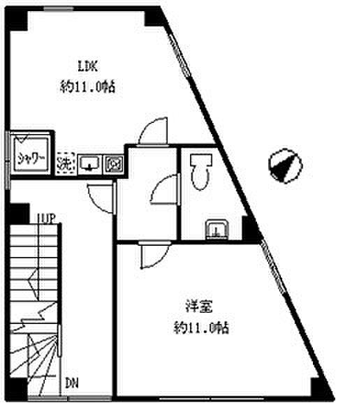 ハウスポート下落合ビルII[2階号室]の間取り