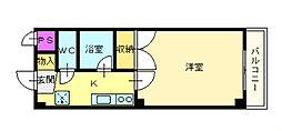 白鷺TKハイツ1号館[3階]の間取り