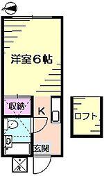 メゾンたかせ[1階]の間取り