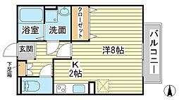 エマーブル福田[105号室]の間取り
