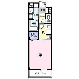 ピュアセルト森尾2[205号室]の間取り