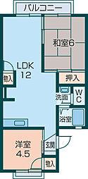 メゾーン大和[105号室]の間取り