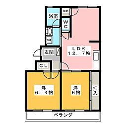 通古賀萩尾ビル[3階]の間取り