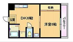 大阪府大阪市都島区友渕町2丁目の賃貸マンションの間取り