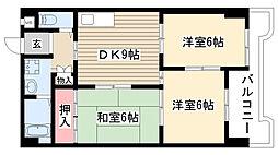 シャンポール幹II[5階]の間取り