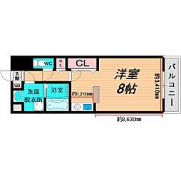 Osaka Metro長堀鶴見緑地線 蒲生四丁目駅 徒歩3分の賃貸マンション 6階1Kの間取り