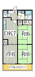 第二三光ビル[3階]の間取り