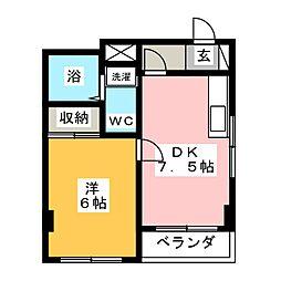 ビラ奈良[1階]の間取り