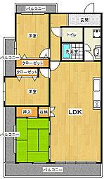 東急ドエル・アルス緑地公園[1階]の間取り