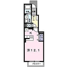 ラフィナートA[0103号室]の間取り