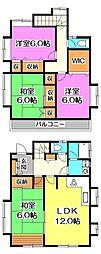 [一戸建] 東京都東久留米市氷川台1丁目 の賃貸【/】の間取り