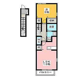 プラシード[2階]の間取り