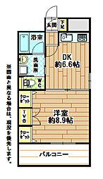 コスモス小倉駅前II[8階]の間取り