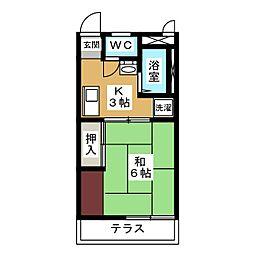 アーバンハウス八田[1階]の間取り