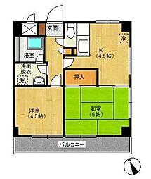 葉山ビル[4階]の間取り