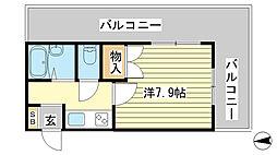 兵庫県姫路市飾磨区玉地1の賃貸マンションの間取り