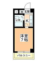 田町第二マンションA棟[205号室]の間取り