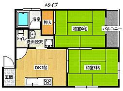 プレアール住之江公園[2階]の間取り