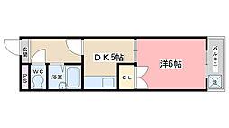 醍醐アーバン[505号室]の間取り