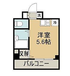 ラフィネ横須賀中央[604号室]の間取り