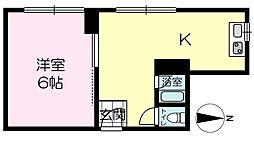 坂元町マンション[201号室]の間取り
