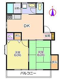 パインハイツA[1階]の間取り
