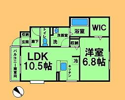 東京都町田市木曽東3丁目の賃貸アパートの間取り