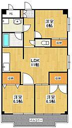リバーサイドコート[3階]の間取り