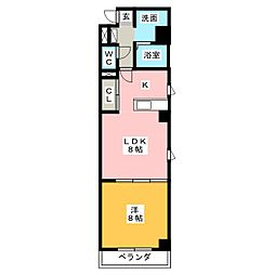 サンリブレ[3階]の間取り