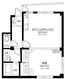 東京都北区赤羽西3丁目の賃貸マンションの間取り