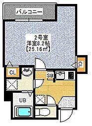 セントハウス横川 4階1Kの間取り