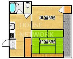 紫竹ハイム[4-B号室号室]の間取り
