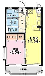 ユーミー上平野[3階]の間取り
